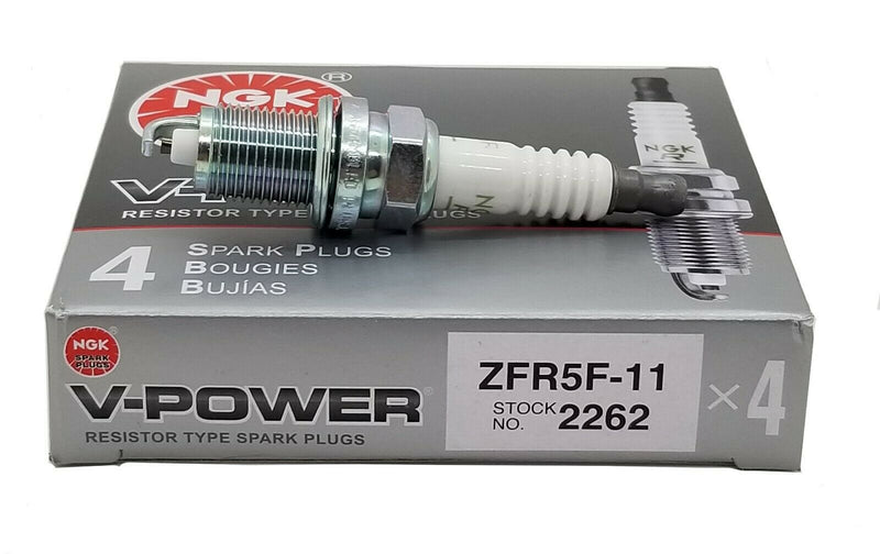 4 Plugs NGK Spark Plugs ZFR5F-11 2262 V-Power