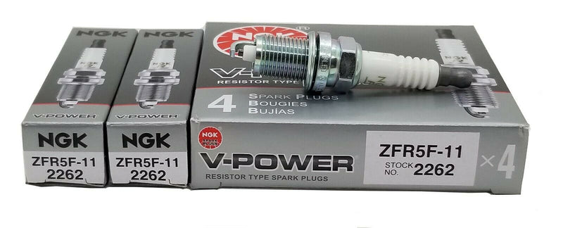 6 Plugs NGK Spark Plugs ZFR5F-11 2262 V-Power