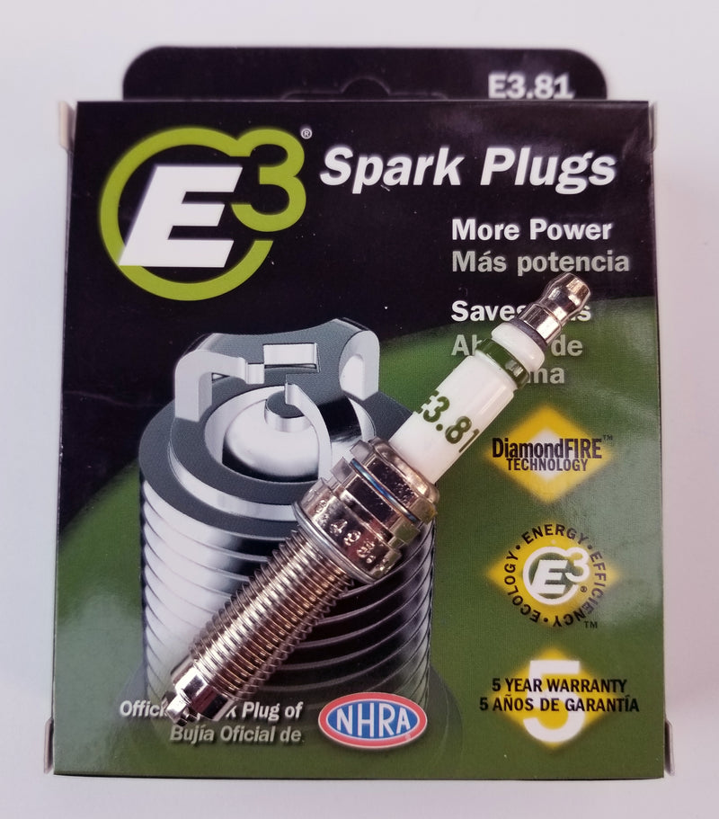 E3.81 E3 Premium Automotive Spark Plugs - 4 SPARK PLUGS