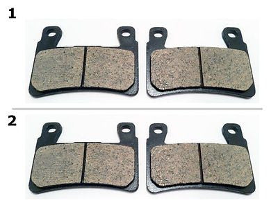 FA296 2 SETS FRONT BRAKE PAD FITS: 1999-2000 HONDA CBR 600 FX/FY for $15.93 at NE Cycle Shop