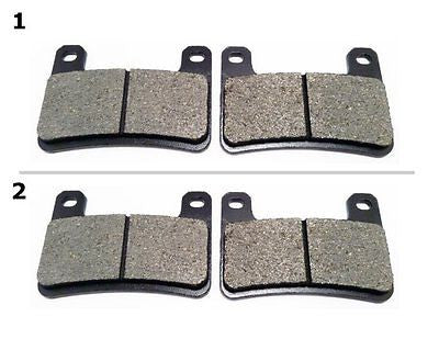 FA379 2 SETS FRONT BRAKE PAD FITS: 2011-2013 KAWASAKI Z 1000 SX (ZR 1000 ABS for $15.93 at NE Cycle Shop