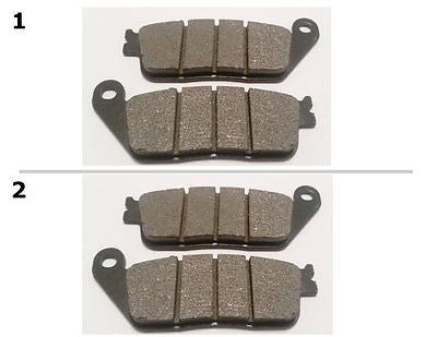 FA226 2 SETS FRONT BRAKE PADS FITS: 2004-2008 HONDA CBF 600 (ABS Model) for $15.93 at NE Cycle Shop