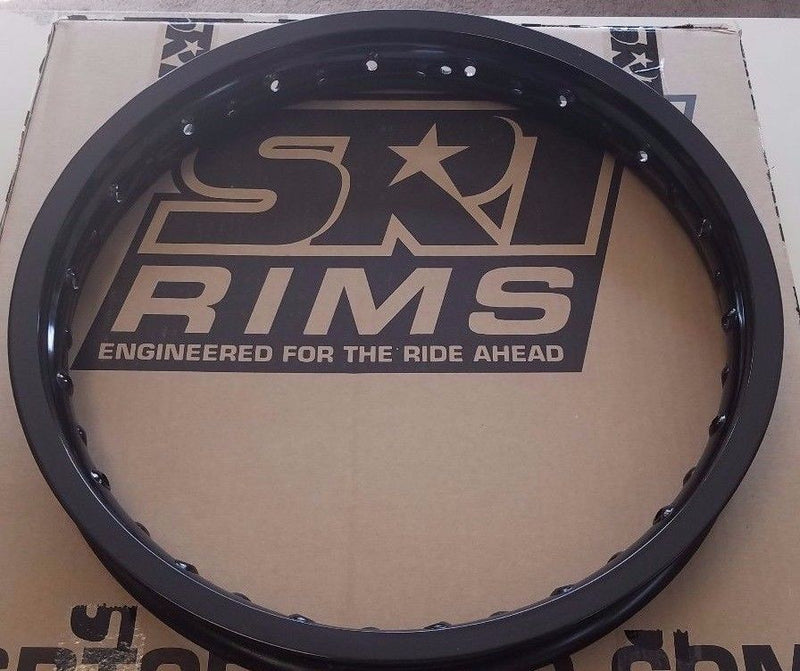 SRT REPLACEMENT REAR RIM 18X2.15 MOTOCROSS RIM BLACK for $89.99 at NE Cycle Shop