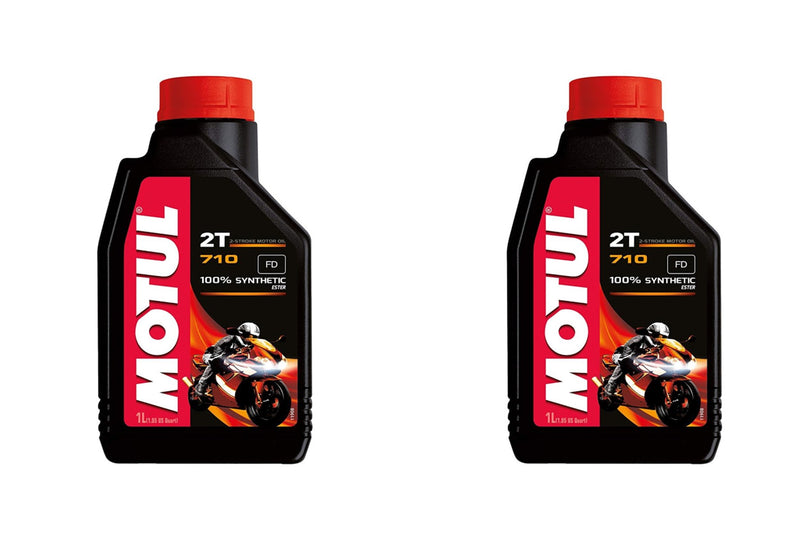 2 Containers Motul 710 2T Motorcycle Oil 104034 1 Liter