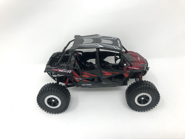 New Ray 1/18 Scale Polaris RZR XP 4 Turbo Rock Crawler (Titanium Metallic)