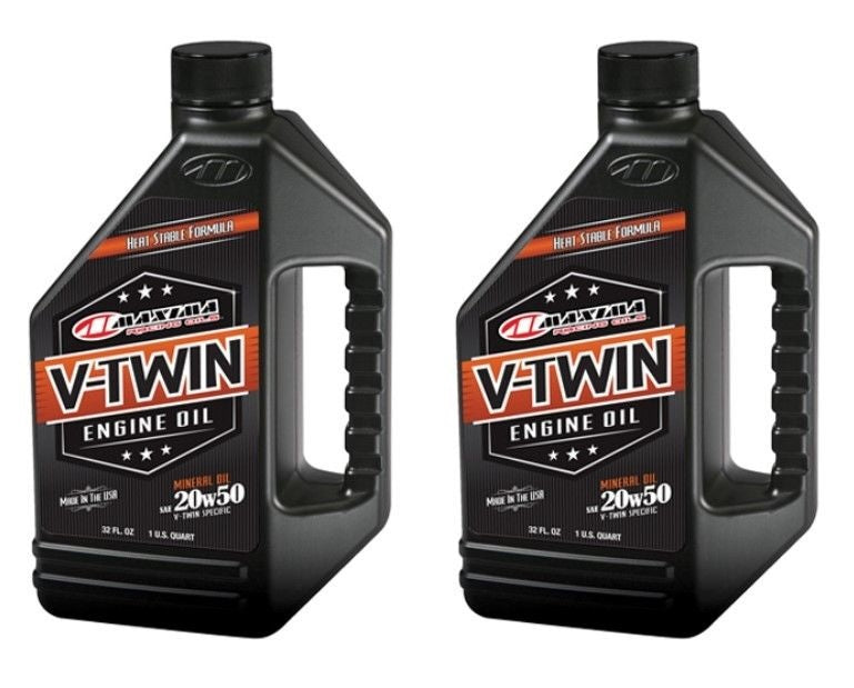 Qty. 2 of V-Twin Mineral 20w50 32oz Maxima 30-06901