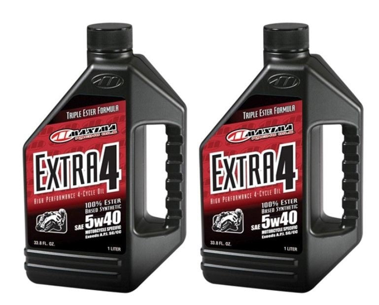 Qty of 2 Maxima Racing Maxum Extra 4 5W40 Oil 30-17901