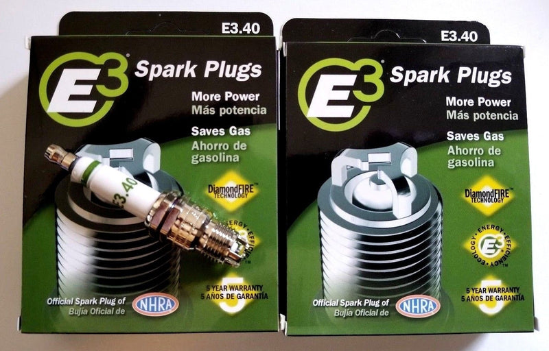 E3.40 E3 Premium Automotive Spark Plugs - 8 SPARK PLUGS 100,00 Miles or 5 years