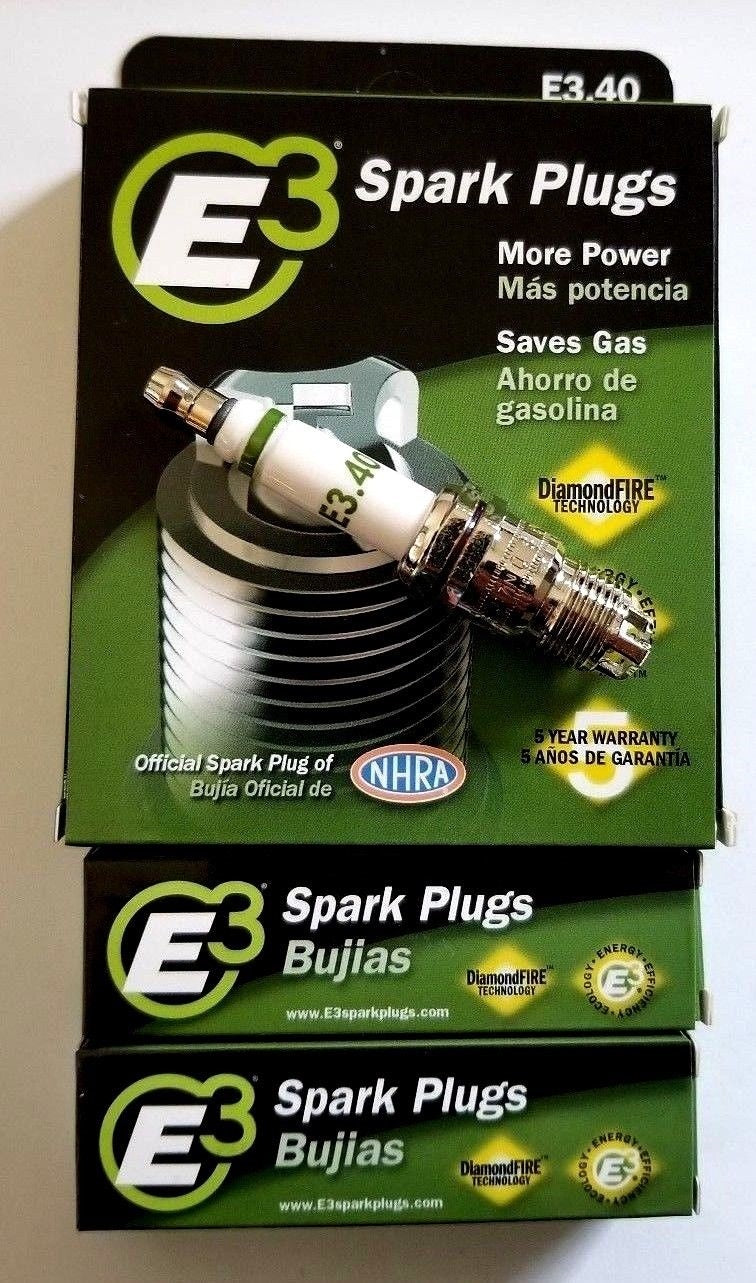 E3.40 E3 Premium Automotive Spark Plugs - 6 SPARK PLUGS 100,000 or 5 Years