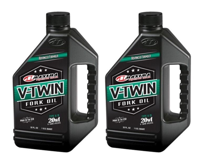 Quantity 2 of Maxima V-TWIN FORK OIL 20WT 32OZ