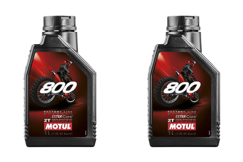 2 Containers MOTUL - 800 2T FL OFF ROAD, 1 LITER