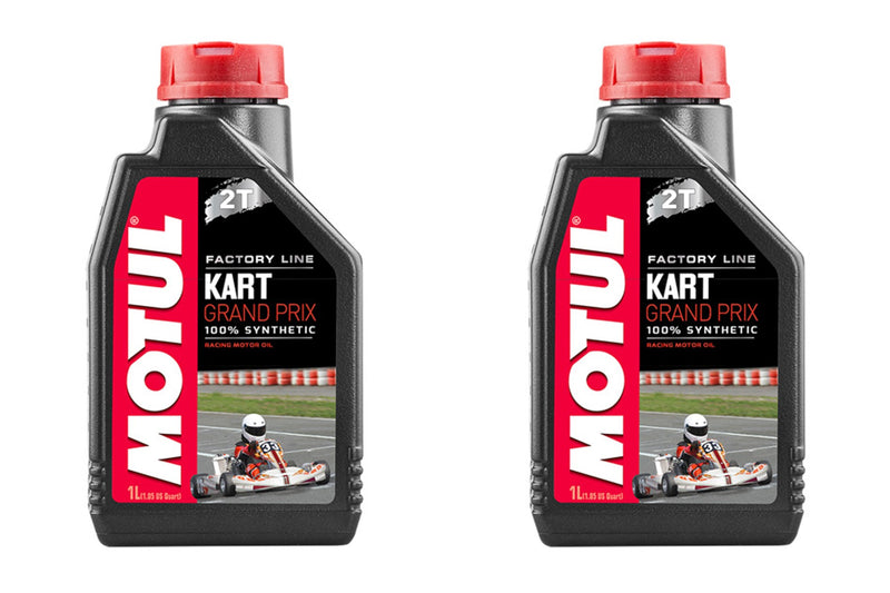 2 Containers MOTUL - KART GRAND PRIX 2T, 1 LITER