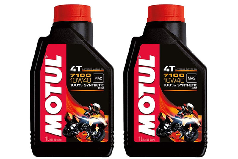 2 Containers Motul - 7100 10W40 4T 1 Liter