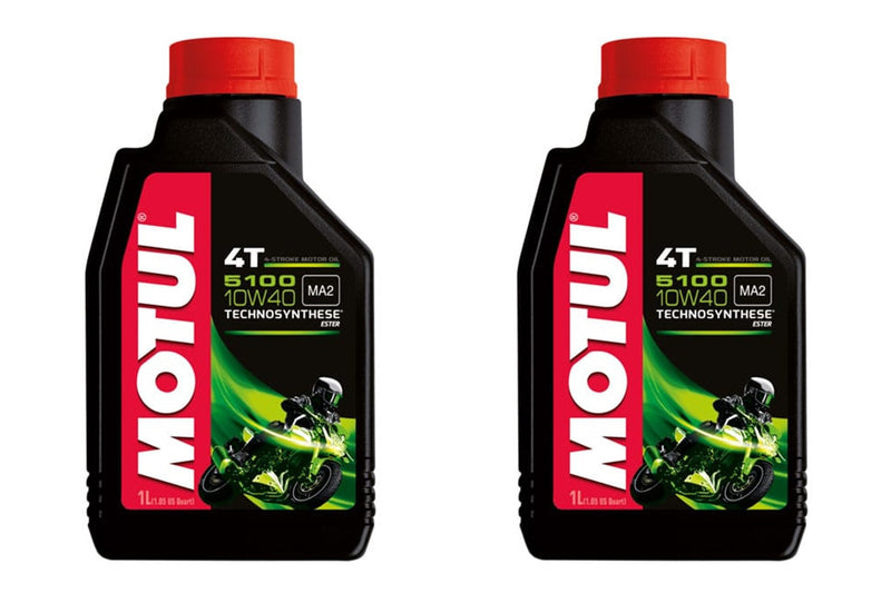 2 Bottles Motul 5100 4T 10W40 Motorcycle Oil 1 Liter 104066