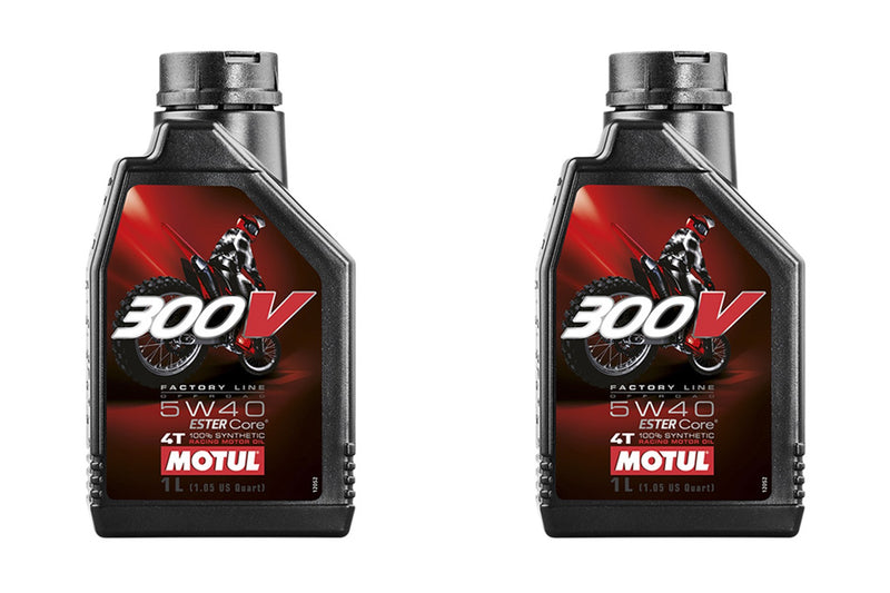 2 Containers MOTUL - 300V FL OFF ROAD 5W40, 1 LITER
