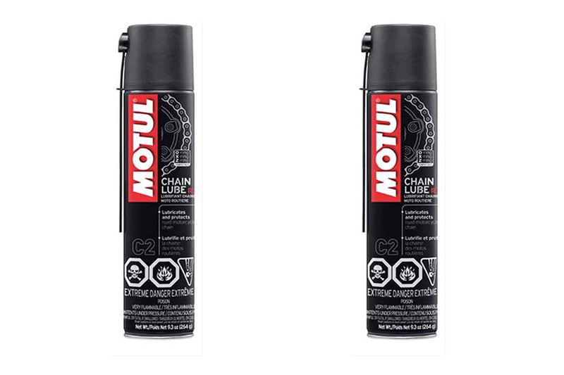 2 Cans MOTUL - C2 CHAIN LUBE ROAD, .400 Liter Can