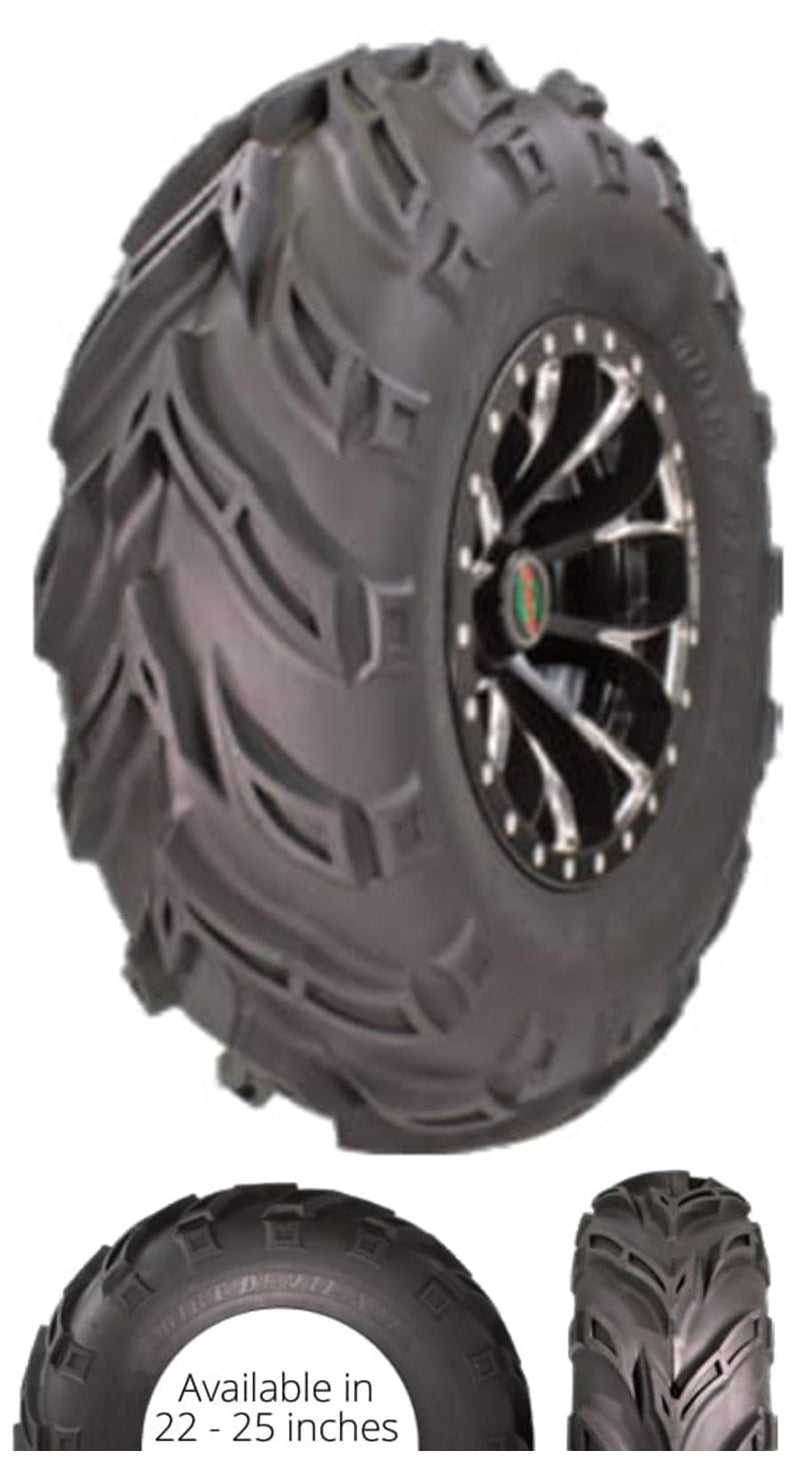 25x8.00-12 GBC Kanati Dirt Devil UTV/ATV Bias (6-ply) (1 Tire) 25-8-12 AR1228
