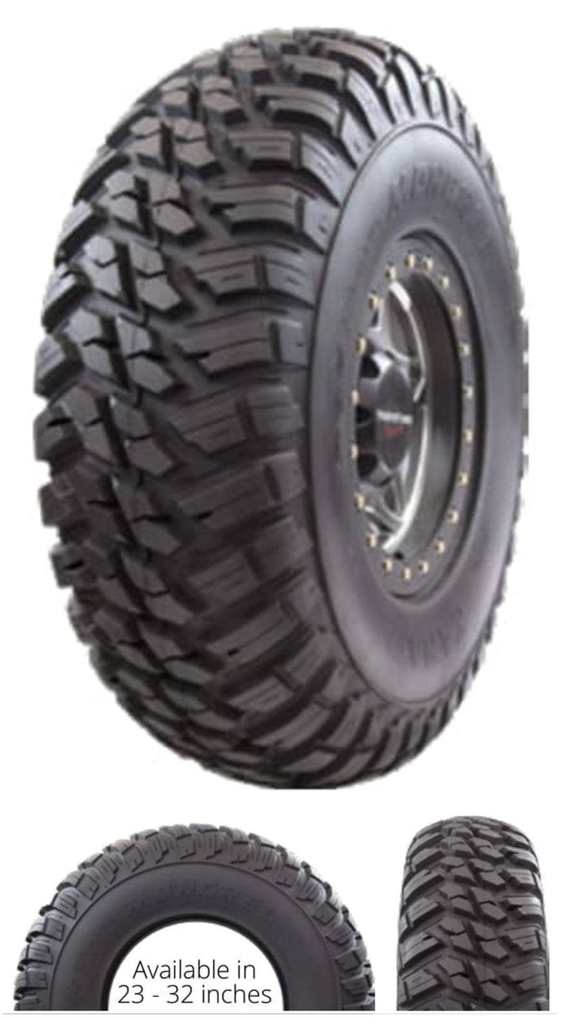 25x10R12 GBC Kanati Mongrel UTV/ATV Radial (10-ply) (1 Tire) 25-10-12 AM122510MG