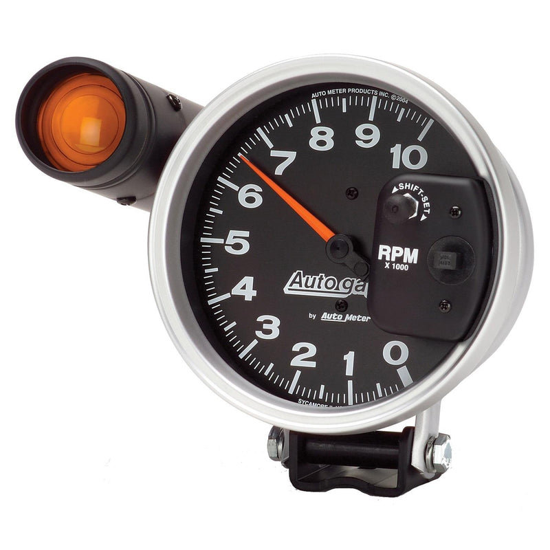 Auto Meter Autogage Pedestal-Mount Tach 10,000 RPM with Shift Light 233904