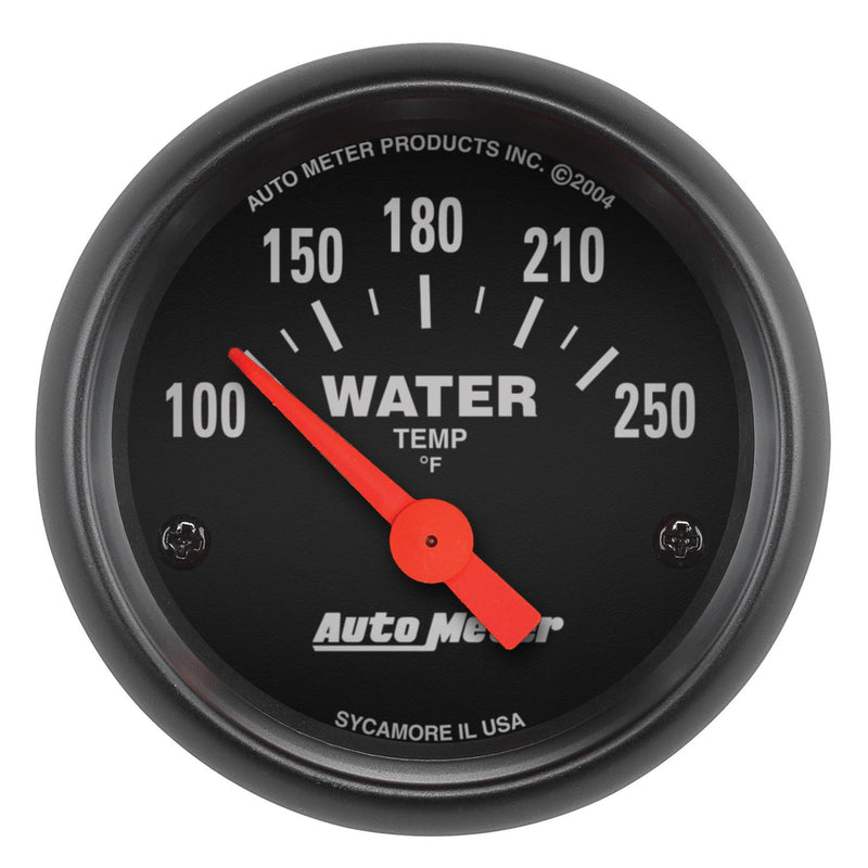 "Auto Meter Z-Series Water Temperature Gauge 2-1/16"" Electrical 2635"