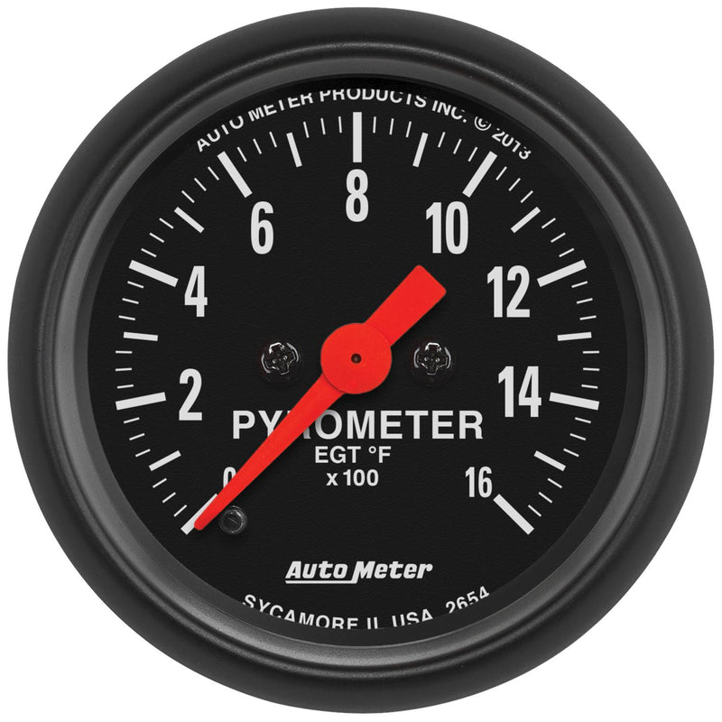 "Auto Meter Z-Series Pyrometer 2-1/16"" Electrical 2654"