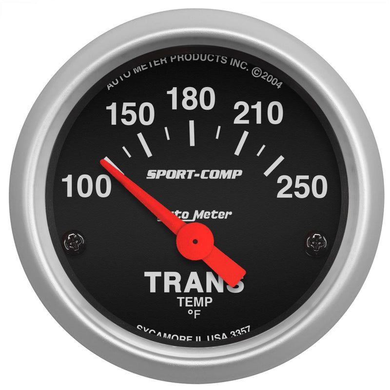 "Auto Meter Sport-Comp Transmission Temperature Gauge 2-1/16"" Electrical 3357"