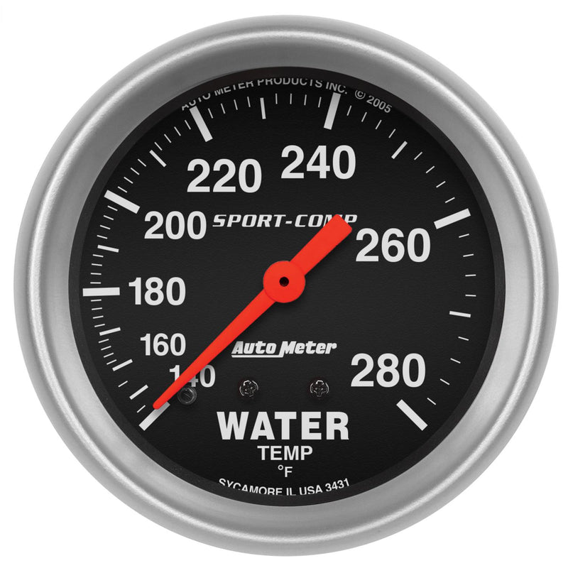 "Auto Meter Sport-Comp Water Temperature Gauge 2-5/8"" Mechanical 3421"