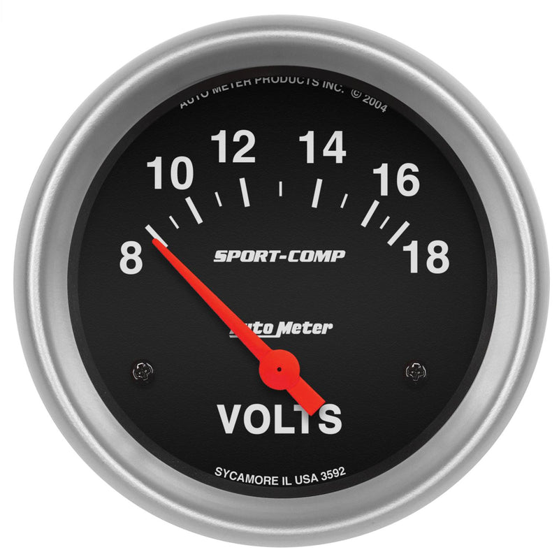 "Auto Meter Sport-Comp Voltmeter 2-5/8"" Electrical 3592"