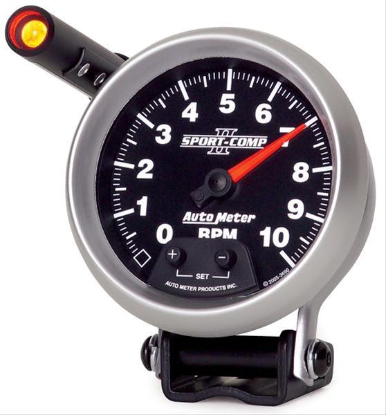 "Auto Meter Sport-Comp II Mini-Monster Tachometer 3-3/4"" Electrical (Full Sweep) 3690"