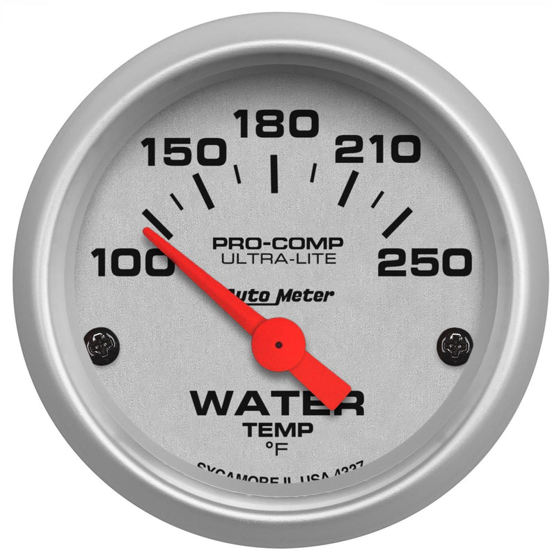 "Auto Meter Ultra-Lite Water Temperature Gauge 2-1/16"" electrical 4337"