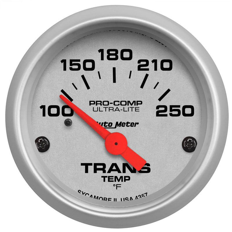 "Auto Meter Ultra-Lite Transmission Temperature Gauge 2-1/16"" electrical 4357"