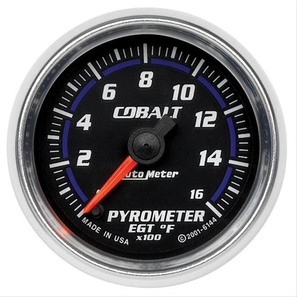 "Auto Meter Cobalt Pyrometer 2-1/16"", electrical full sweep 6144"