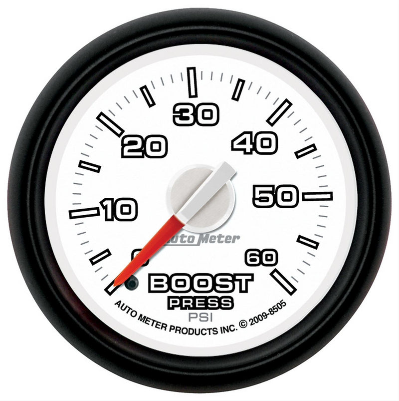 "Auto Meter Gen 3 Dodge Factory Match Boost Gauge 2-1/16"" Mechanical 8505"
