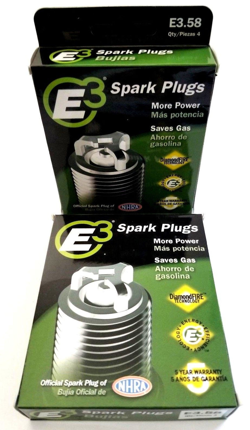 E3.58 E3 Premium Automotive Spark Plugs - 8 SPARK PLUGS 5 Year or 100,000 Miles