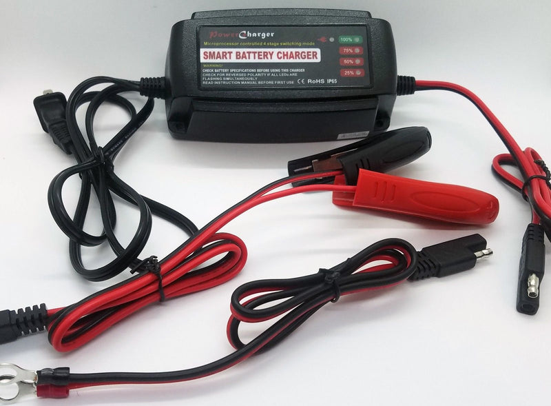 DAGA 12V 5 Amp Automatic Battery Charger / Maintainer AGM GEL VRLA SLA WET for $35.99 at NE Cycle Shop