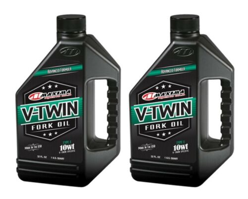 Quantity 2 of MAXIMA V-TWIN TYPE E FORK OIL 10WT 32OZ 50-02901