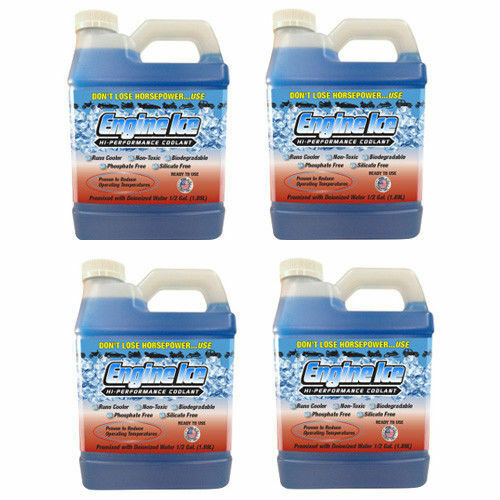 Qty 4 of ENGINE ICE 1/2 GAL High Performance Coolant Non-Toxic Biodegradable