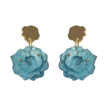 Blue Rose Earrings Patricia Nicolas
