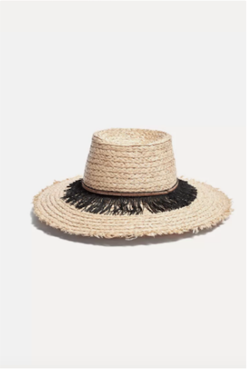 Straw Hat With Embroidered Band Forte Forte