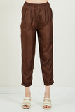 Chicago silk pants taupe mes demoiselles