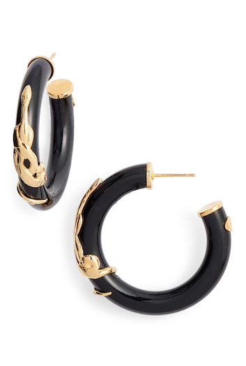 Cobra Earrings Gold - Black Gas bijoux