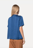 crash satin Blue t-shirt Forte Forte