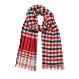 Carlow Red Wool Scarf Inouitoosh