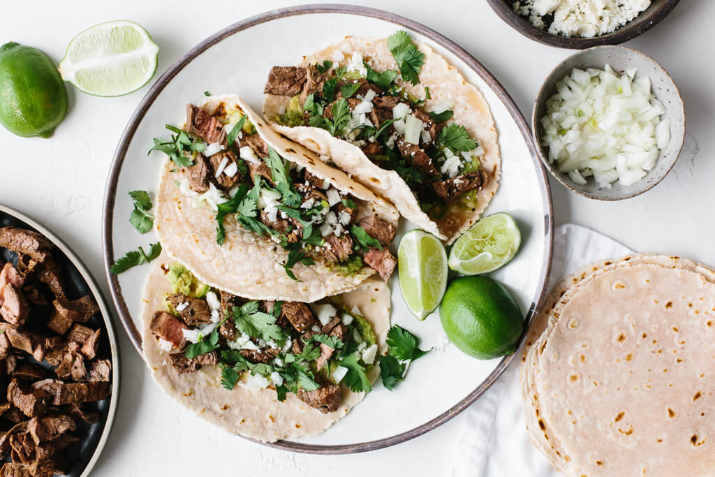 Deconstructed Pulled Pork Tacos w/Cilantro Lime Sauce