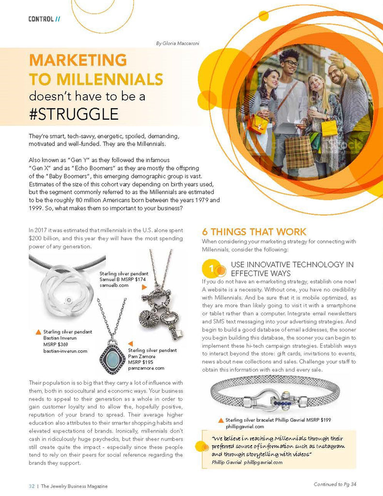 2018_June_Retail Jeweler_Marketing to the Millenials_pg32