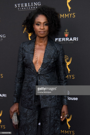 Adina Porter wore a Kir necklace and Belle E'Toile ring to the Television Academy's Performers Peer Group Celebration