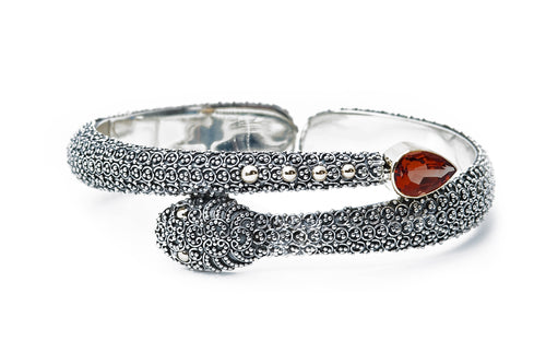 Sophia Snake Cuff - bracelet - KIR Collection - designer sterling silver jewelry