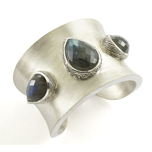 Chandi Cuff - bracelet - KIR Collection - designer sterling silver jewelry