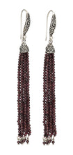 Beaded Tassel Earring - earring - KIR Collection - designer sterling silver jewelry