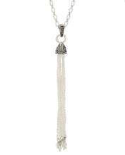 Beaded Tassel Pendant - pendant - KIR Collection - designer sterling silver jewelry